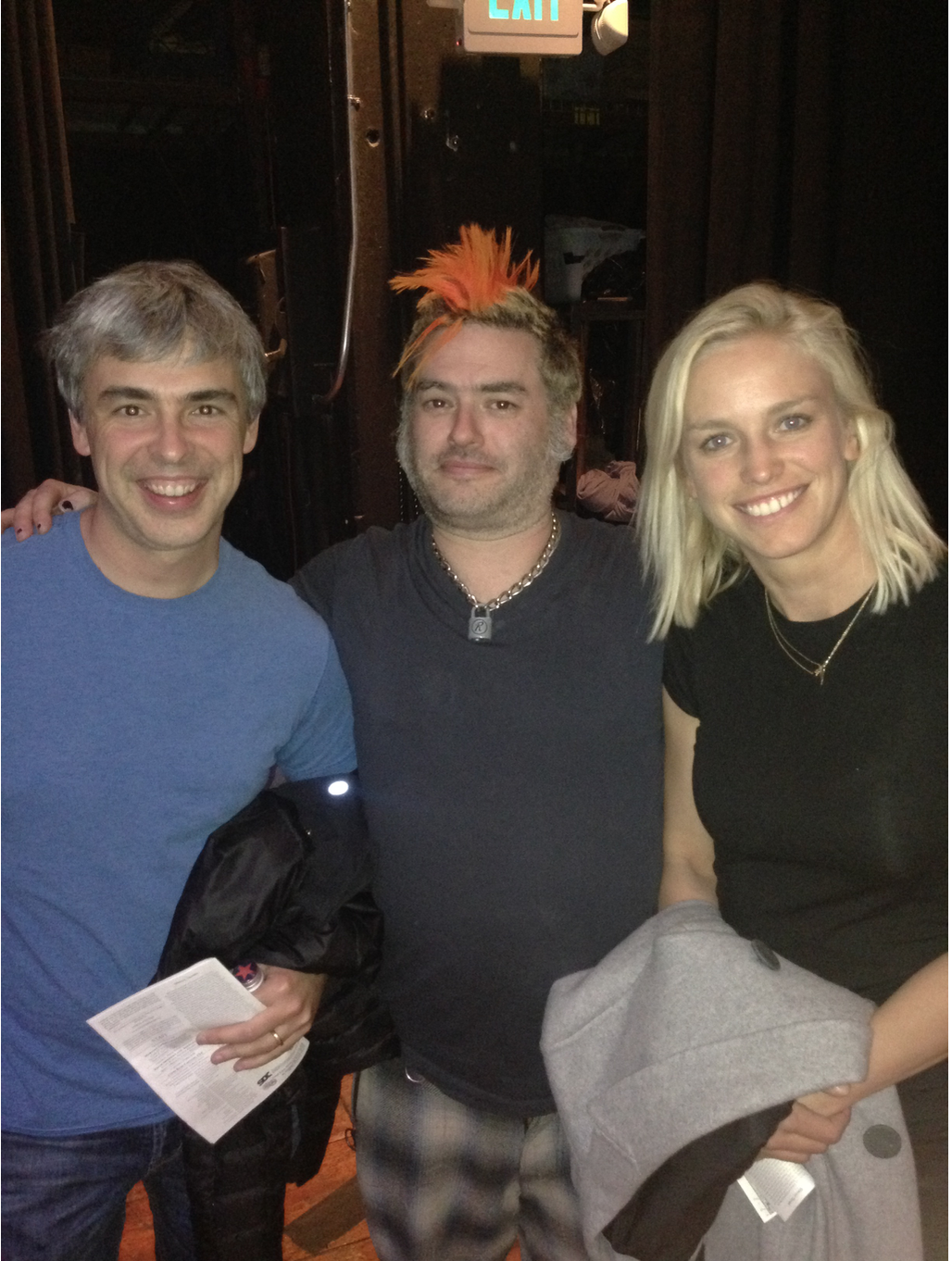 Me and Larry Page and Lucinda Southworth. If you don't know who they are.... Google them.